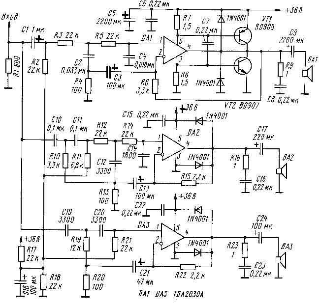 простая схема tda2030 - Практическая схемотехника.